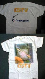 COMMODORE CDTV T SHIRT: From Commodore UK likely in the very late 1990's