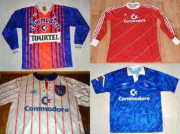 EUROPEAN SOCCER SHIRTS: Commodore sponcored many football clubs in Europe and Britain right up until its dimise in 1993/4.