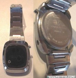 COMMODORE SILVER DIGITIAL WATCH