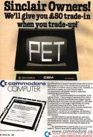 SINCLAIR TRADE IN OFFER FOR COMMODORE PET: This promotions resulted in Commodore having thousands of Sinclairs shipped in. They had so many they ended up using several of them as door stops in the offices