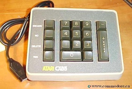 C64 C128 KEYPAD BY ATARI: Released in the spring of 1983 it had previously only come bundled with some accounting software.