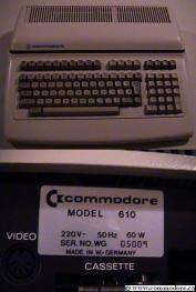 COMMODORE CBM 610: The only 6509 based system to achieve any serious, albeit modest production in Europe. See the B128 item for more details. Courtesy of Dan Benson.