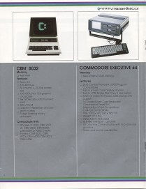 BUSINESS LINE CONTINUED - Pet 8096, Executive 64 (also known as the SX64 and laptop 64)