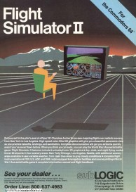 SUBLOGIC FLIGHT SIMULATOR II FOR THE C64 - Compute ! May 1984