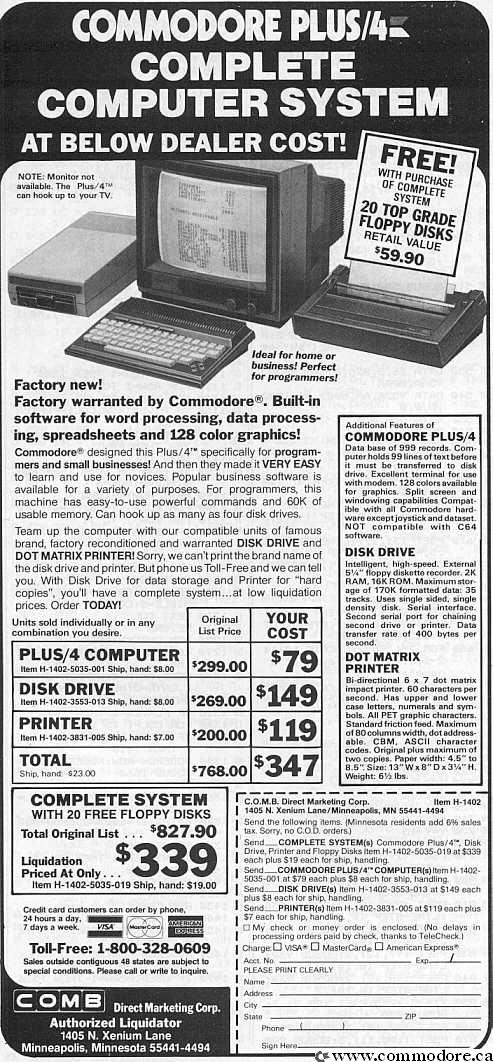 Commodore Computers: C64 VIC20 PET C128 Plus4 - 8 Bit PC's