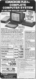 PROTECTO COMMODORE PLUS/4 LIQUIDATION SALE - The Commodore Plus 4 was a massive failure. The Plus 4 was the only machine from the 'Ted Series' that was released in quantity and failed to sell because it was not compatible with anything. See the MAGAZINE ARTICLES section: The Beginning of the End - Commodore Computer 264 / 364 Announcements for more details.