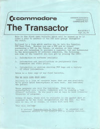 The Transactor Vol 1 01 1978