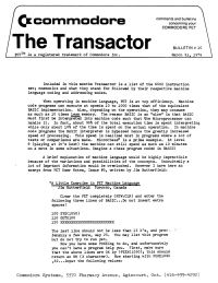 The Transactor Vol 1 10 1979