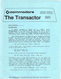The Transactor Vol 3 05 198?