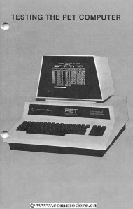 Commodore PET diagnostics