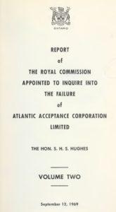 atlantic-acceptance-failure-ontraio-royal-commision-1969
