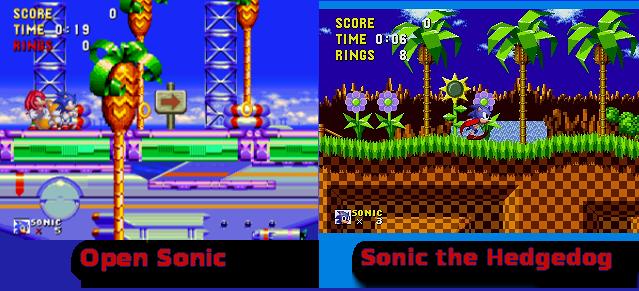 Open Sonic VS Sonic