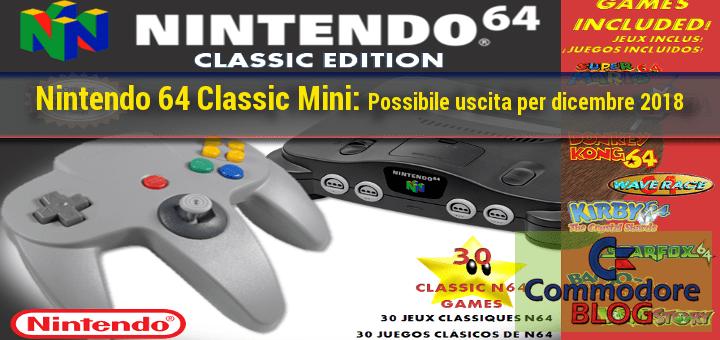 Nintendo 64 classic mini - Possibile uscita per Dicembre 2018