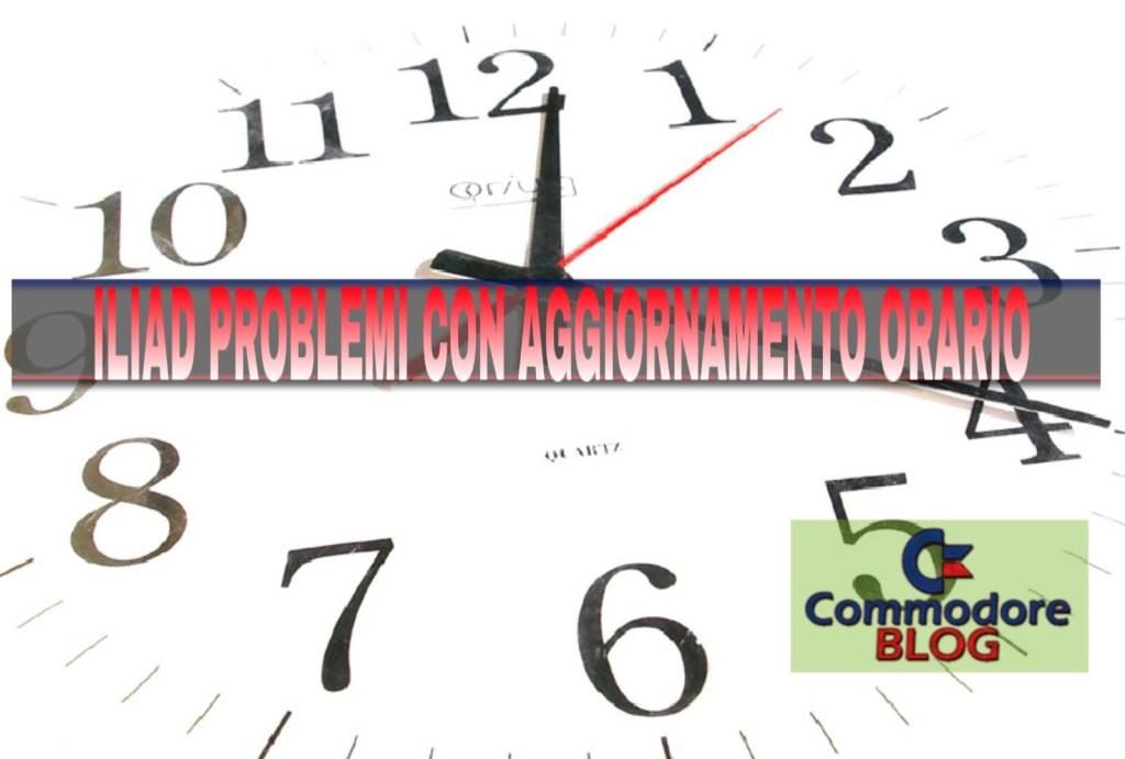 Iliad problemi con aggiornamento orario