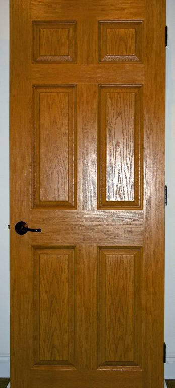 Oak Stained Solid Core 6Panel Interior Door  Modular
