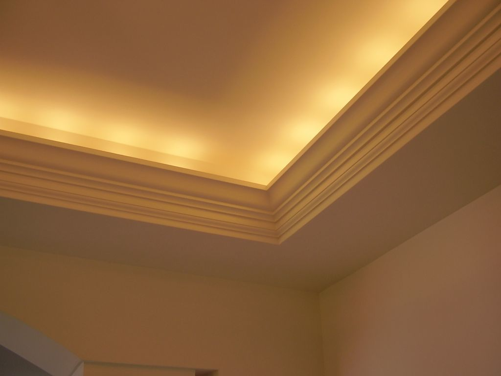 Tray Ceiling with Indirect Lighting & Cove Molding
