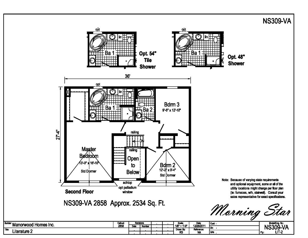 Upstairs the open foyer provides privacy between the master suite and bedrooms 2 and 3 in addition bath 2 is easily accessible from bedrooms 2 and 3