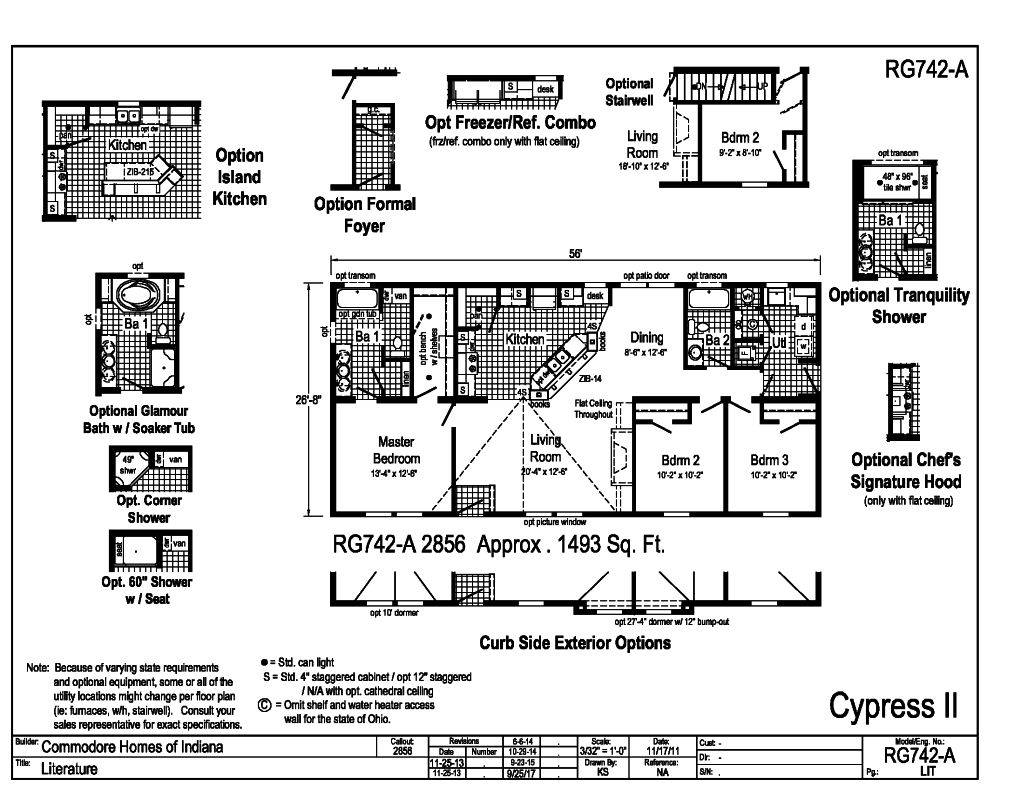 hight resolution of the grandville le modular flex lineup includes the cypress ii sq ft 1493