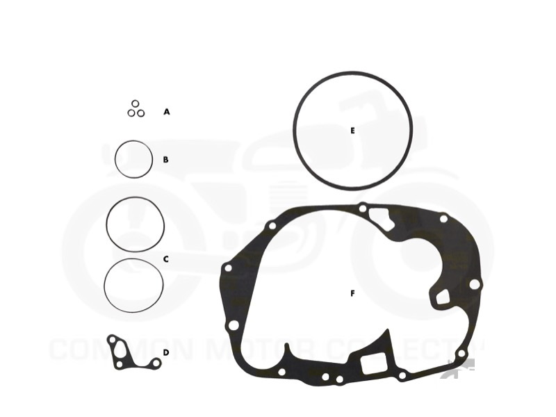 Honda CB350 / CL350 / SL350 Oil Change Gasket Kit| Common