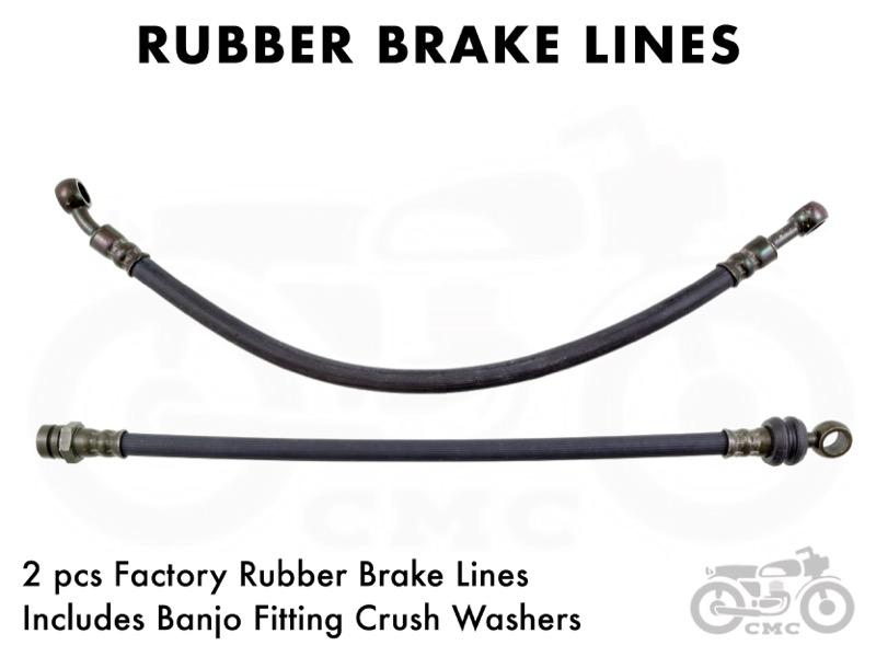 Honda CB360 / CB450 / CB500T / CB550 Brake Hose: Rubber