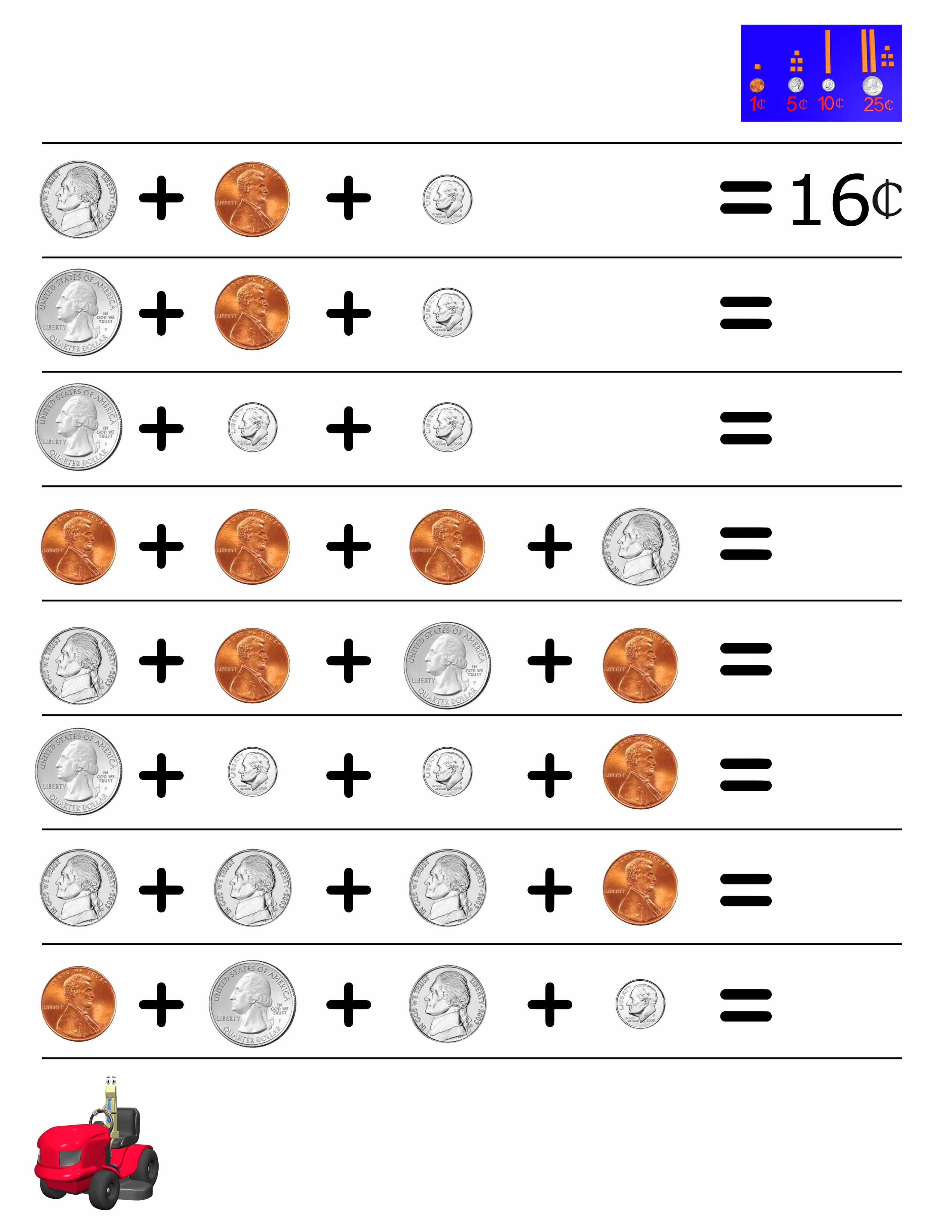 Money Math Worksheets For 2nd Graders