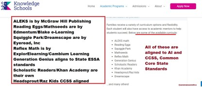 Knowledge Schools are part of the CCSS Machine