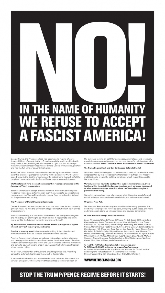 (Image: RefuseFascism.org)