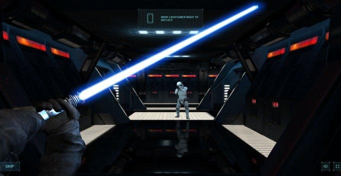 Screenshot from Star Wars Lightsaber Escape
