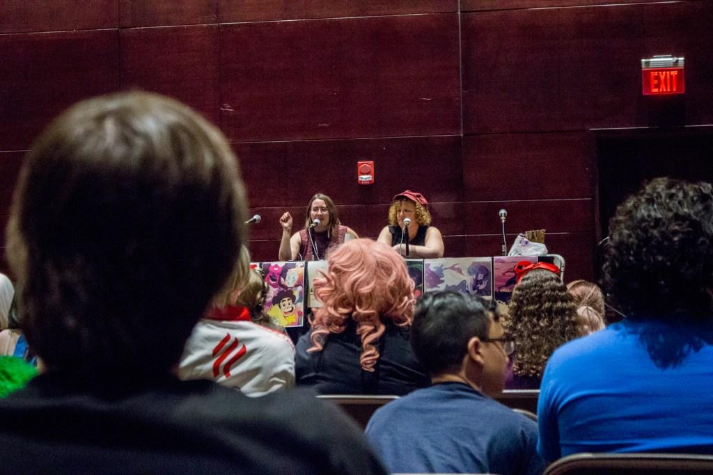 Judith Fisch and Natalie Reichel - Steven Universe, Gay Space Rocks - Photo by Robert Beiler