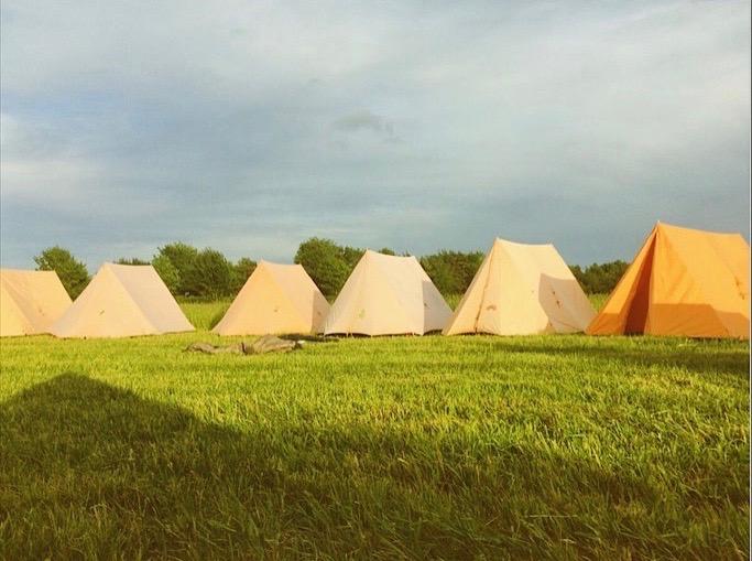 Orange tent circle