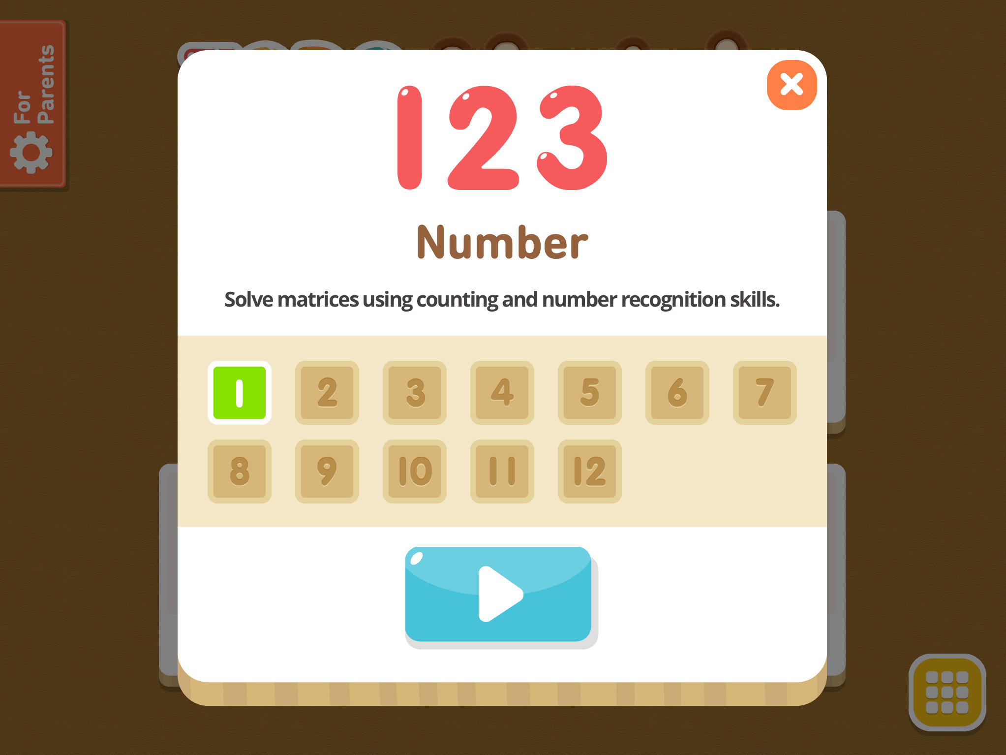 small resolution of Todo Number Matrix: Brain teasers