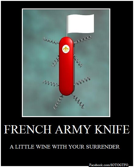 Poster Of The Day French Army Knife  Common Sense Evaluation