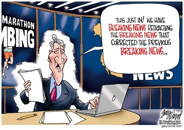 Cartoon Of The Day Breaking News Blunders Common Sense