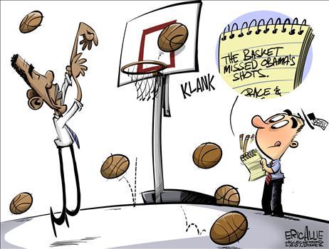 The Basket Missed Obam's Shots