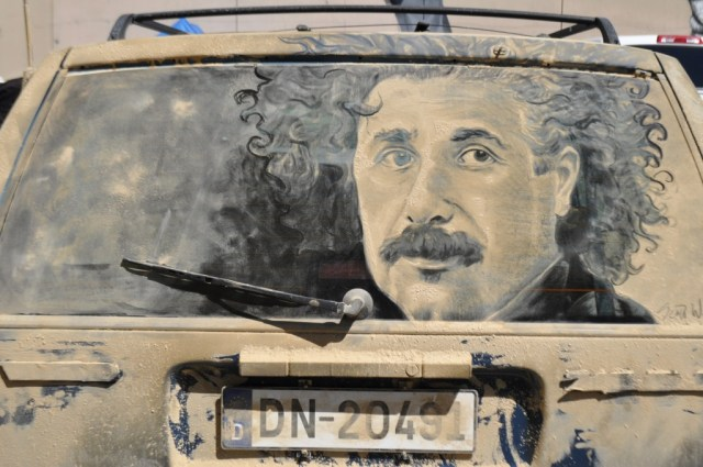 Art Made On Dusty Cars