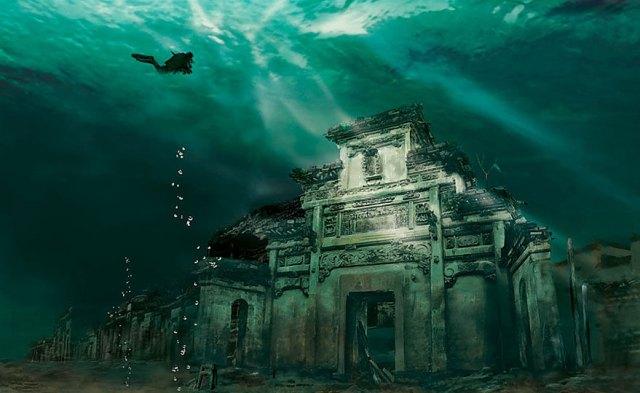 Underwater City in Shicheng, China