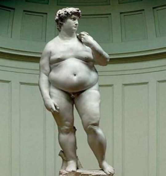 Michelangelo's David Fat