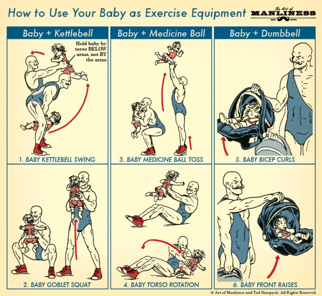 How to Use Your Baby as a Piece of Exercise Equipment
