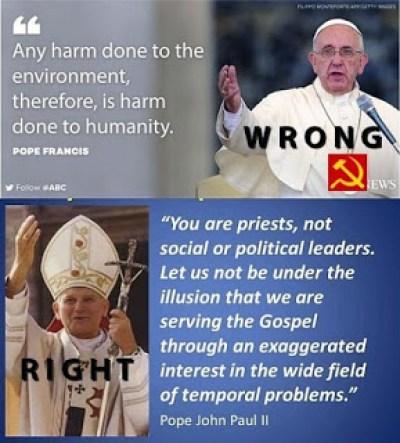 Pope Francis vs. Pope John Paul II