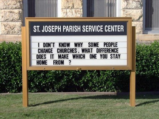 Funny Church Signs 4
