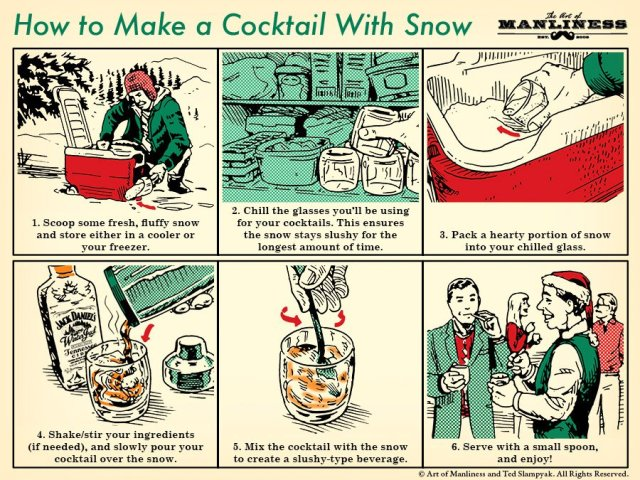 Make a Cocktail With Snow