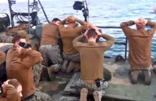 10 U.S. sailors in Iranian custody