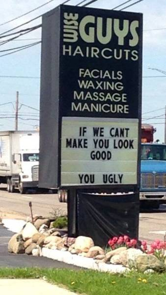 Sign Of The Day Wise Guys