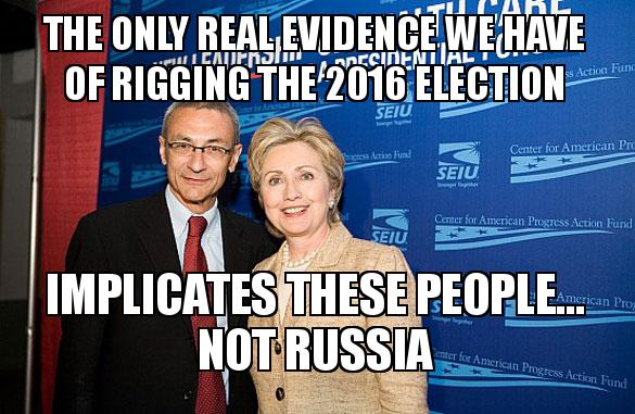 The only real evidence we have of rigging the 2016 election  implicates these people... not Russia