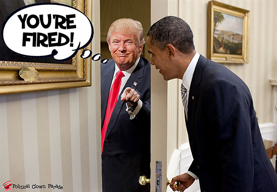At Obama's Door Trump