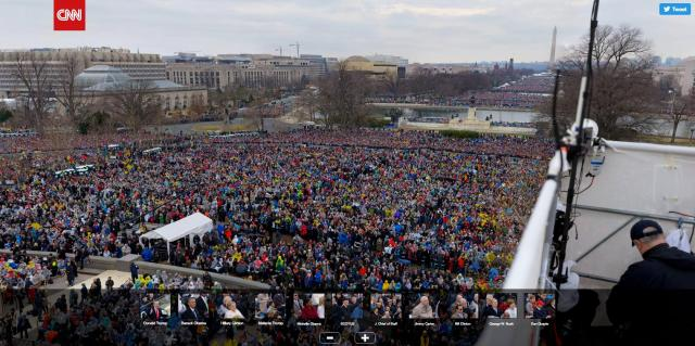 Real Inauguration Crowd Size vs FAKE NEWS