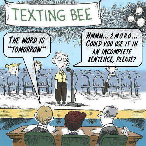 Cartoon Of The Day: Texting Bee