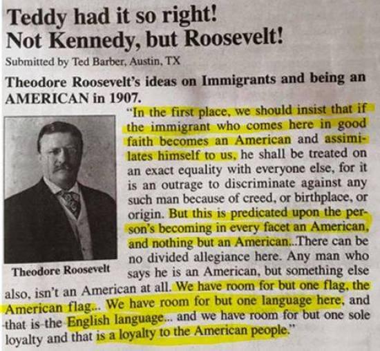 Teddy Had It Right