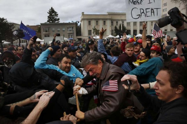 Mainstream Media Silent As Pro-Trump Rallies Get Violent Against Trump Supporters