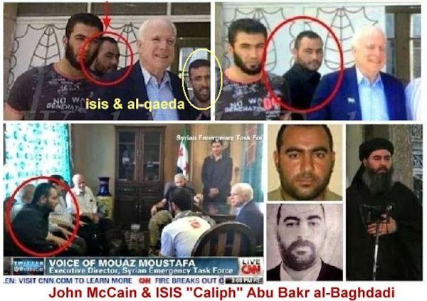 McCain and Abu Bakr al-Baghdadi